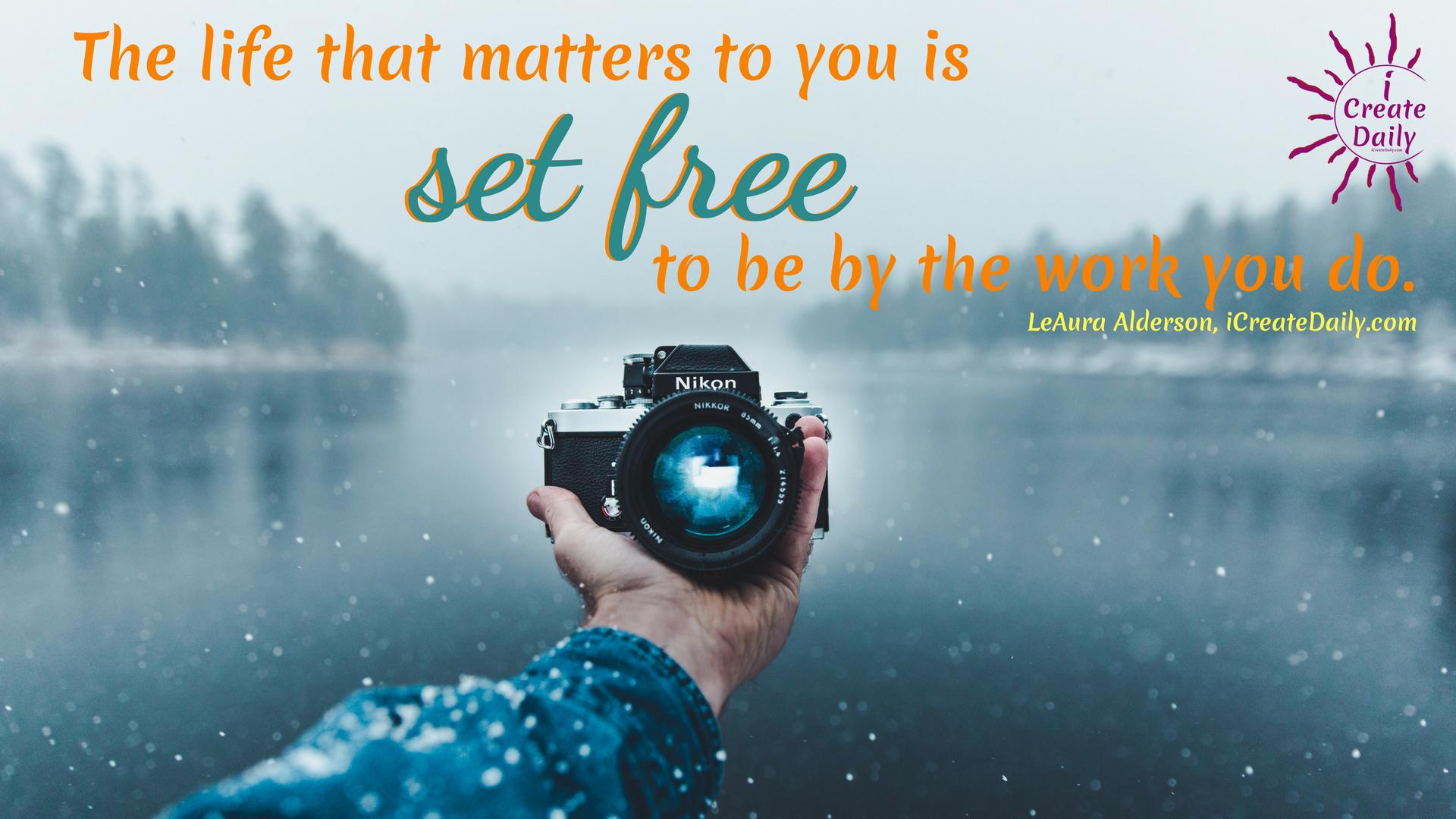 The life that matters to you is set free to be by the work you do even when you're tired. Even when there are temptations not to. even when you doubt. Even when you fear. #life #quotes #success #creative