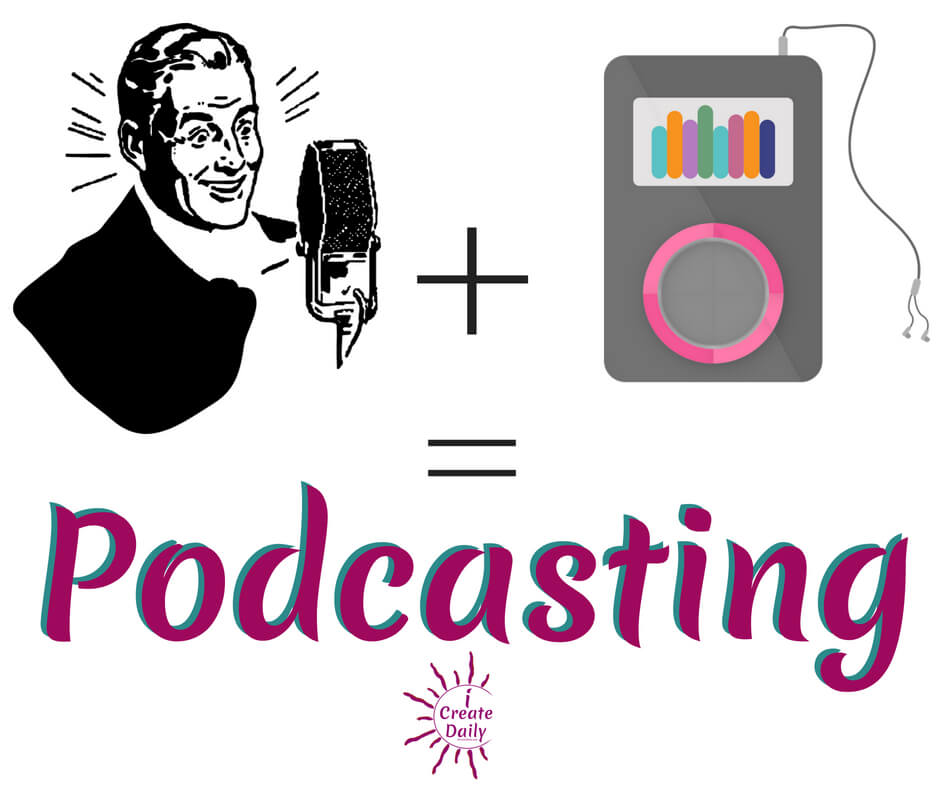 Podcasts are audio blogs that allow you to listen through audio streaming or downloads to ipod and other digital devices. All smartphones are equipped with a podcast app that is preloaded on your phone, (or else downloadable for free). It's a lot like logging onto your NetFlix or iTunes or Amazon Prime account for a movie or book, but instead, you can search a library of options available and then access an audio file, called 'podcast', usually for free. #podcast #creatives #ipod