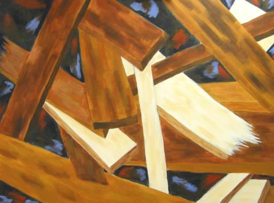 "Painting by Lynne Hundley, ""Starting Over"". #LifeAlchemy #AlchemyMetaphor"