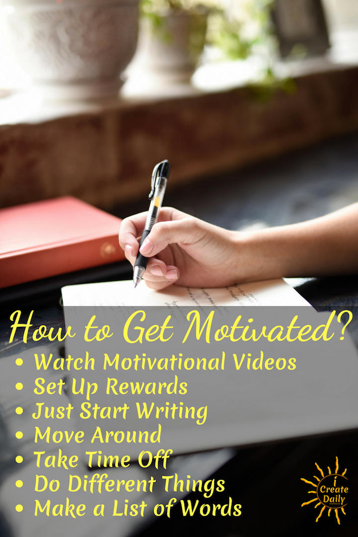 When a member of the iCreateDaily group on Facebook posted that she was struggling with motivation to write, the community rallied to help by sharing their best motivation and mindset tips. We're sharing that here as a virtual tool chest of possibilities that you can come back to when you're feeling the gravity of no motivation to do anything. If you've ever stalled out on motivation, this might help. #motivation #quotes #goals