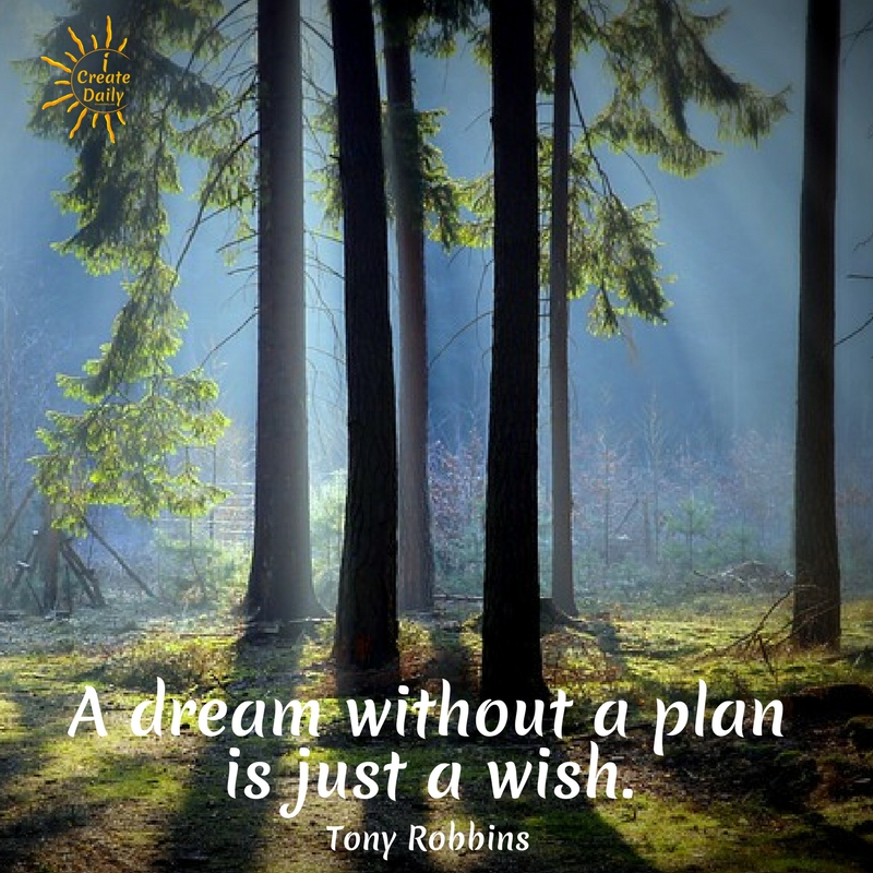 Tony Robbins Quote: A dream without a plan is just a wish. #DreamsQuote #TonyRobbinsQuotes #Transformation #Life #InspiringQuotes