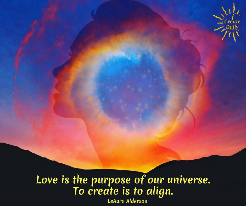 Their core is love. Their union is love. Their offspring is Love. Love is the purpose of their creation. In creating, love becomes a verb. Love is revealed through action... through creation. Love is revealed through art.