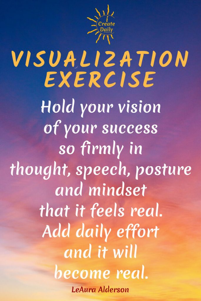Visioning creates the blueprint of your future. Take care to work on it daily and watch your future come to life in your present. #Visioning #PowerOfBelief #FutureSelf #Success #DailyEffort #Manifestation #iCreateDaily
