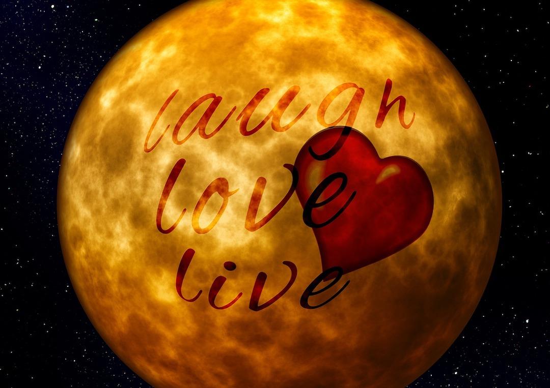 positive words, positive life, live, love, laugh
