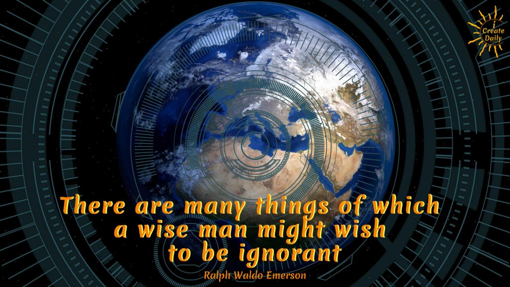 "50 Years Ago and Today: What kinds of things demanded our attention (or that of our elders), 50 years ago? There were no...Ralph Waldo Emerson Quote: ""There are many things of which a wise man might wish to be ignorant."" #EmersonQuote #RalphWaldoEmersonQuote#InformationEra #Attention #BusyBrainSyndrome #Distractions #Quotes #Multitasking #ADD #ADHD #Forgetfulness #Distractedness"