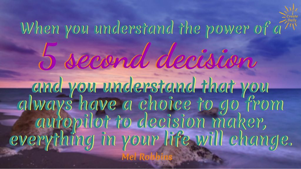 We love Mel Robbins. If you haven't yet heard of her and tuned into her talks or interviews, then you will want to! Meanwhile sharing these powerful Mel Robbins quotes to help you reset your brain so that you'll be on track to achieve your goals. #MelRobbinsQuotes #DecisionQuote #5SecondDecision #HabitsQuotes #PowerQuote #iCreateDaily