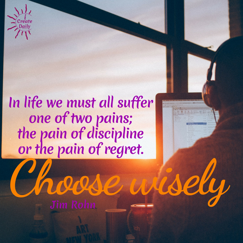In life we must all suffer one of two pains.... choose yours wisely! #MeaningfulQuotes #PainOfRegret #JimRohnQuote #RegretQuote #DisciplineQuote #CoachingQuote