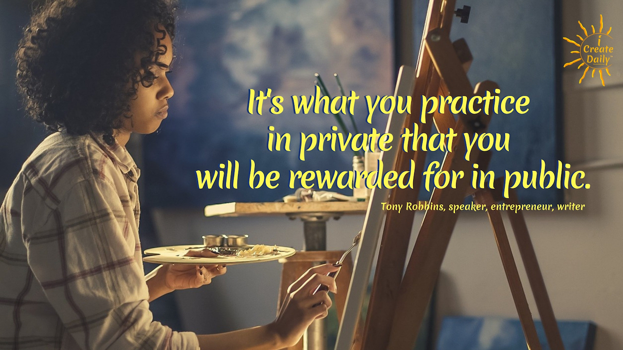 """It's what you practice in private that you will be rewarded for in public."" ~Tony Robbins, speaker, entrepreneur, writer #LifeGoals #Dreams #Motivation #GoodHabits #PersonalDevelopment #Success #Determination"