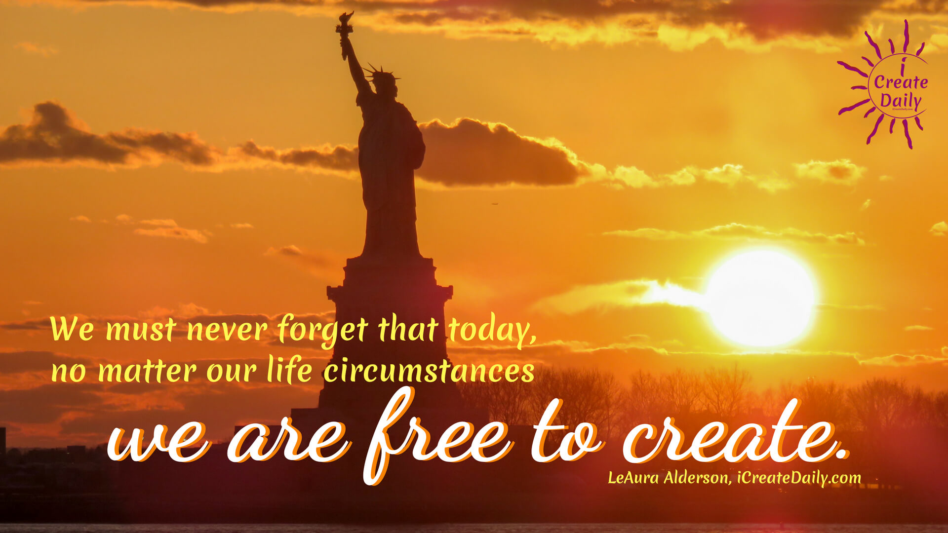 Freedom quotes, free to create