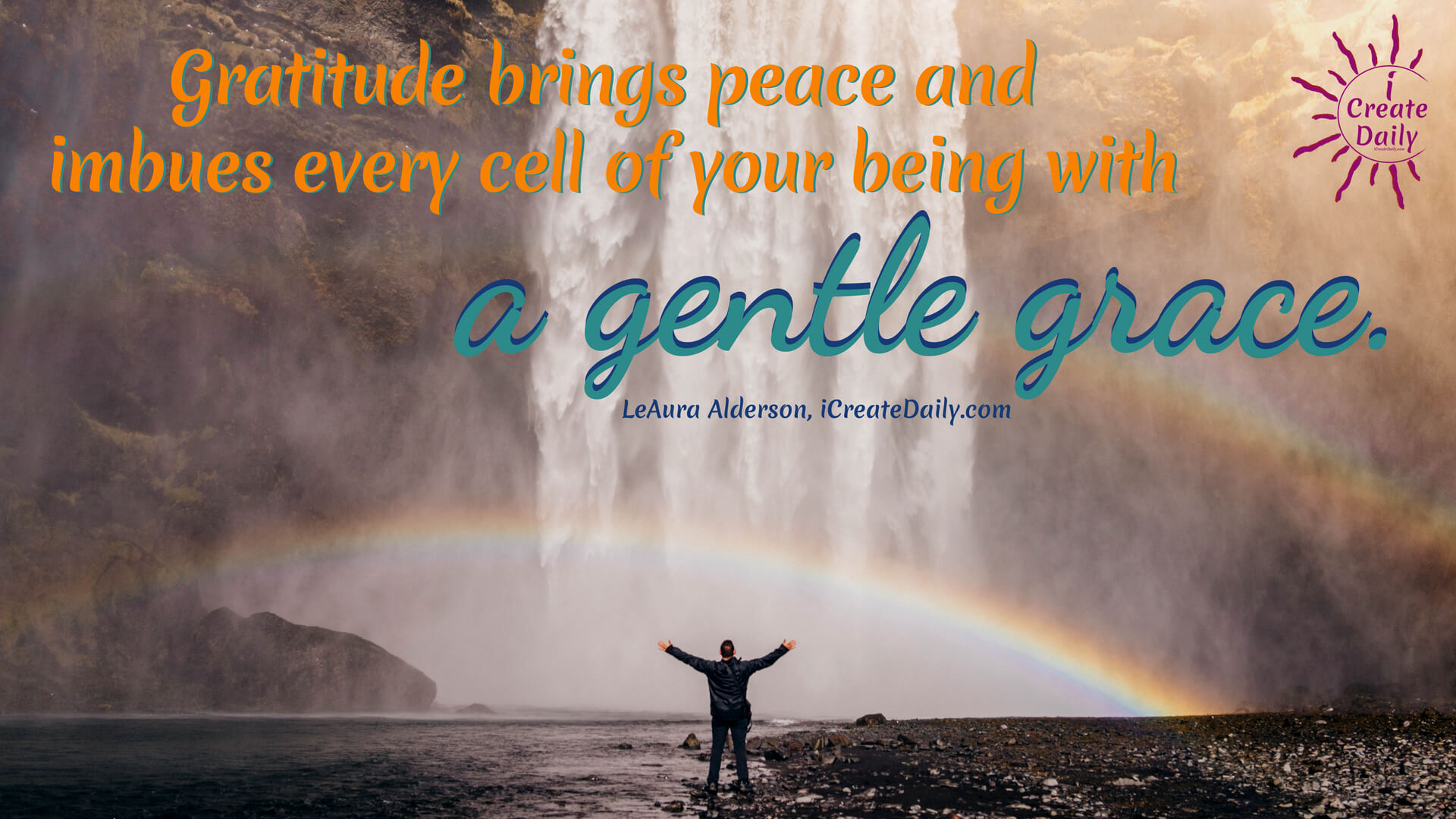 Gratitude brings peace and imbues every cell of your being with a gentle grace. #AttitudeOfGratitude #PositiveAttitude #PositiveQuotes