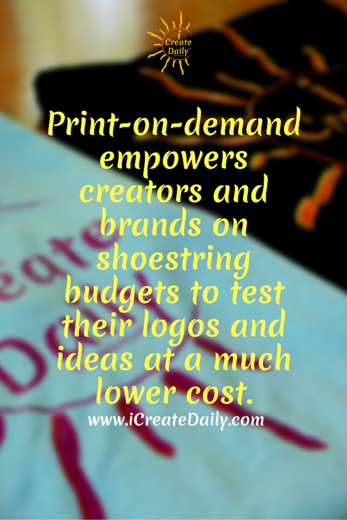 Print-on-demand empowers creators and brands on shoestring budgets to test their logos and ideas at a much lower cost. #Business #Companies #Tshirt #Sites #Products #Ideas #Shirts #Art #Design #Shopify #Etsy #Dropship #Tips #Mugs #CostumePatterns #Jewelry #Fabrics #Artists #apparel