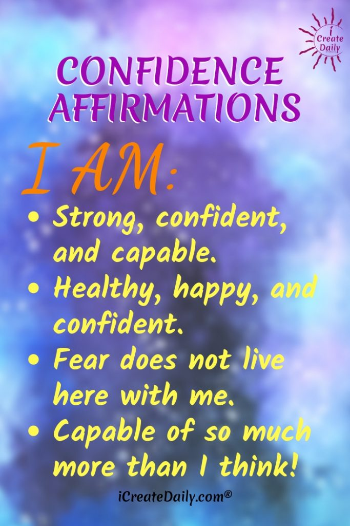 "Confidence Affirmations - ""I am strong, confident and capable."" #ConfidenceAffirmations #IamStrong #HappyAffirmations #FearAffirmation #Capable"