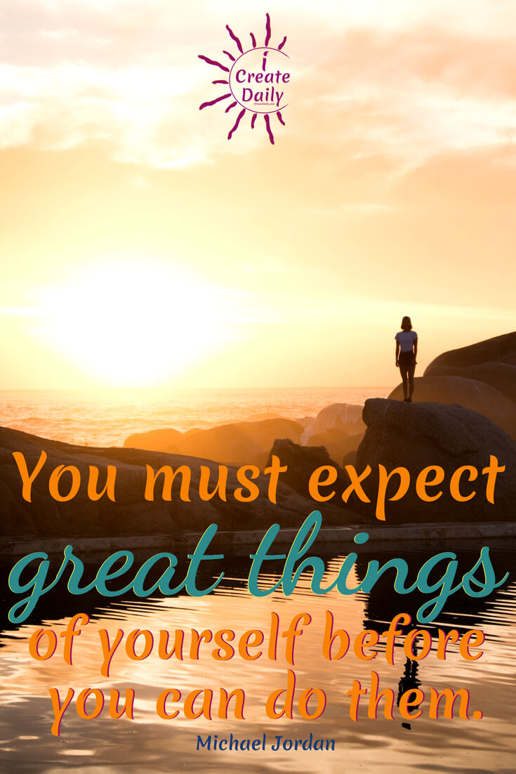"Michael Jordan Quote: ""You must expect great things of yourself before you can do them."" #MichaelJordanQuote #LifeAlchemy #TransformationQuote #Motivation #Inspirational"