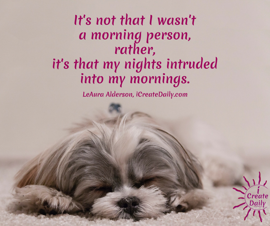 IF YOU THINK YOU'RE NOT A MORNING PERSON... You may be right, or... you may be surprised!Morning Person or Night Owl? #MorningLark #NightOwl #Hummingbird #MostCreativeTime #GoalSetting #DailyGoals #MorningRoutine #WakeUpEarly