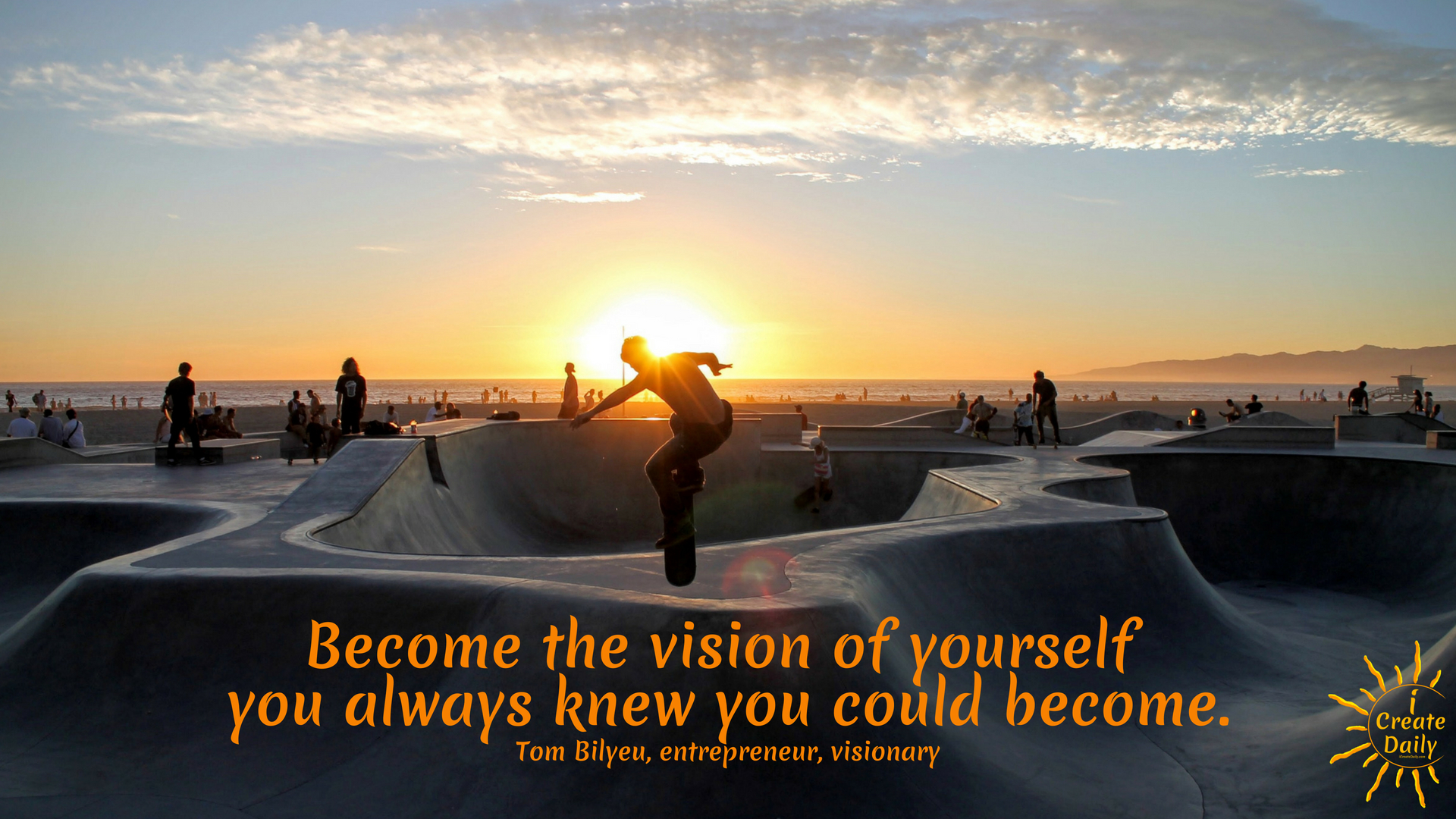 Become the vision of yourself you always knew you could become. ~Tom Bilyeu, entrepreneur, visionary #quotes #quest #vision