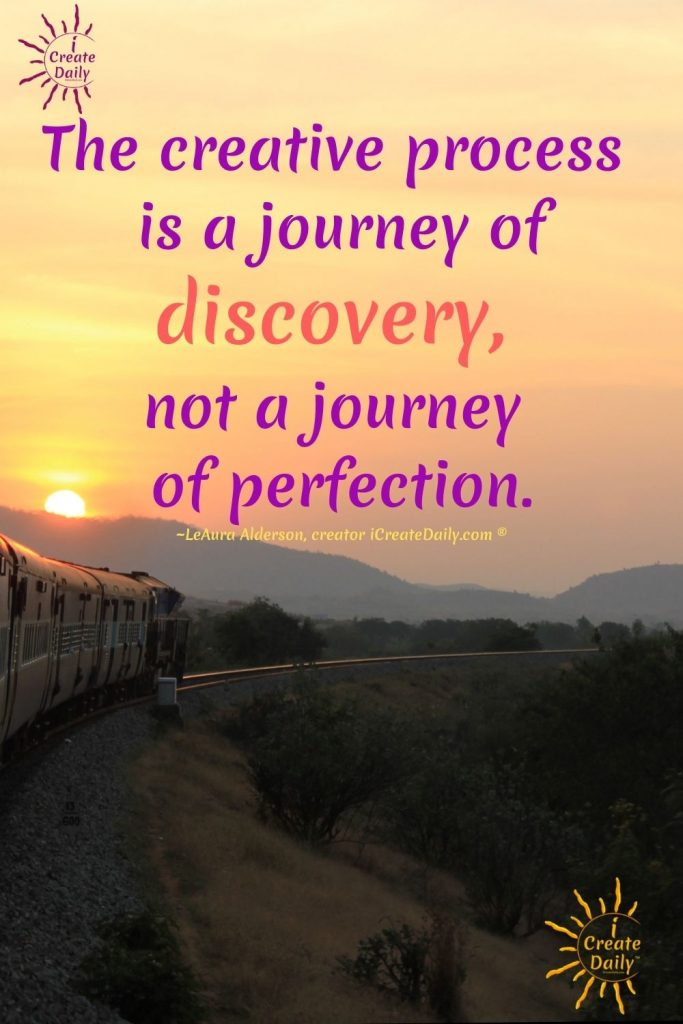 No Perfect Plan-creation is a journey of discovery not perfection