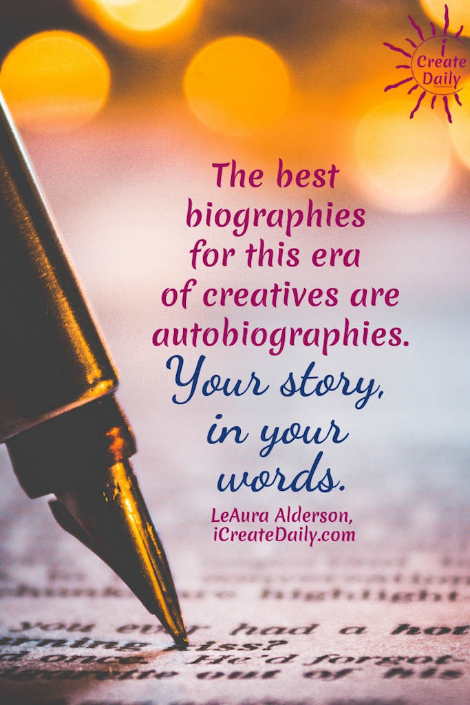 Write your biography as though you're speaking to a friend. Because you are. You're bio will speak to your audience—and prospective audience—of friendlies. #art #authors #story