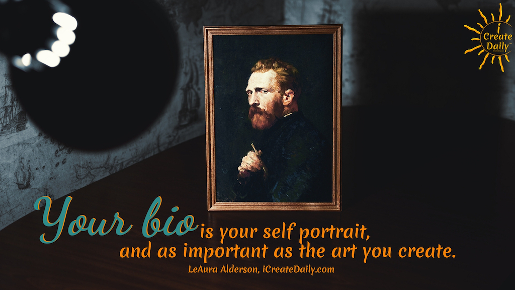 Your artist biography is as important as the art you create and as much a creative extension of you as your art. Craft your bio to tell your story and people will find you because of who you are as much as for what you create. #art #authors #bio