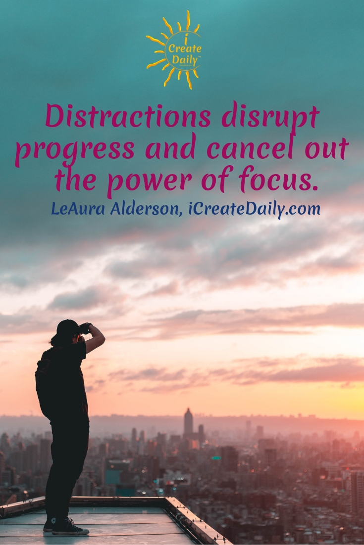 Multitasking diffuses focus and brain coherency. But focus restores and increases it. #iCreateDaily #Focus #ThePowerOfFocus #PowerOfFocus #LightWaves #BrainCoherence #Distractions #FocusQuotes