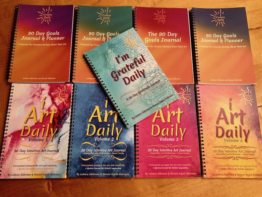 90 day goals journals, art journals