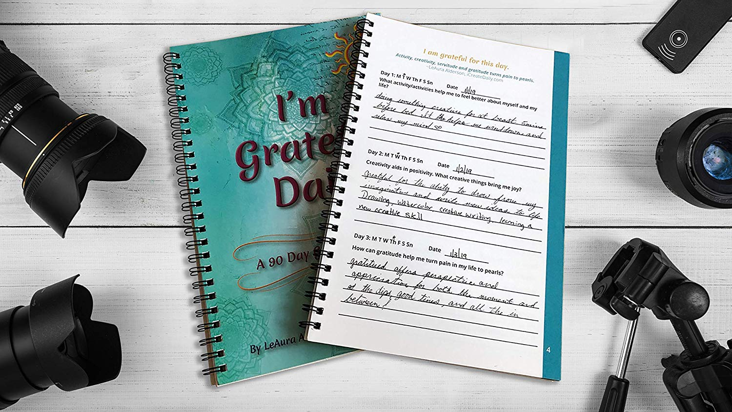 I'm Grateful Daily 90 Day Gratitude Journal