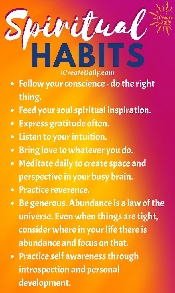 GOOD SPIRITUAL HABITS -  #GoodHealthList #HealthHabits #LifeGoals #GoodHabits #HealthyHabits #HabitsQuotes #GoodHabitsList
