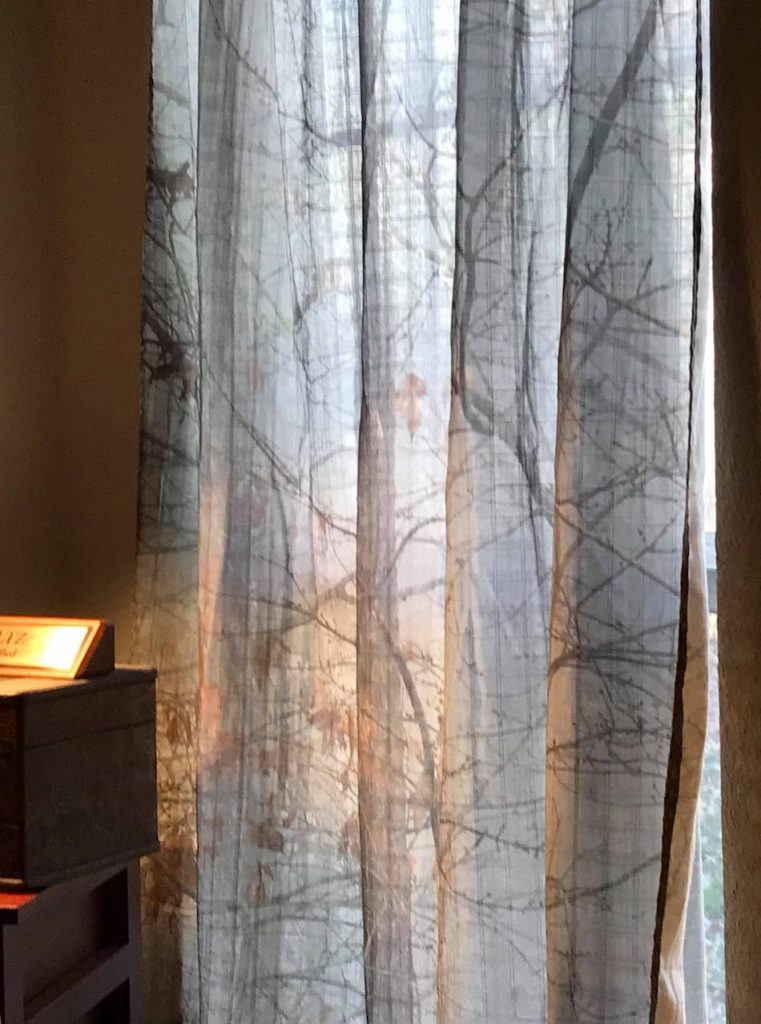 Lynda Suzanne Wright is an artist, photographer, writer... creator extraordinaire, and she had her art made into custom curtains using Society 6 Print On Demands services.
