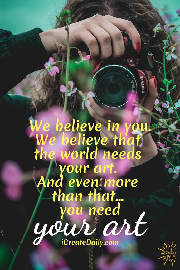 We believe that the world needs your art. The world needs more creators bringing beauty, ideas and imagination to life. And... the world needs more creators helping other creators to do more of that. #lifegoals #Dreams #Motivation #BucketLists #Ideas #Quotes #Money #ThingsToDo #Inspiration #Thoughts #Awesome #People #Families #Heavens #Mottos #icreatedaily