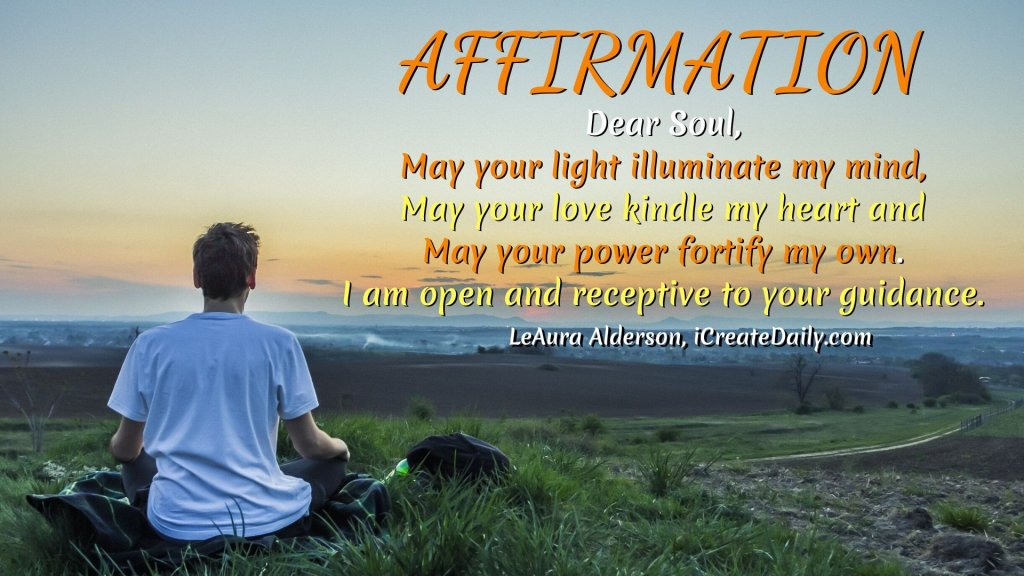 Affirmation for light, love and power.I am open and receptive to your guidance. #PositiveAffirmation #EmpoweringQuotes PositiveQuotes #SoulGuidance