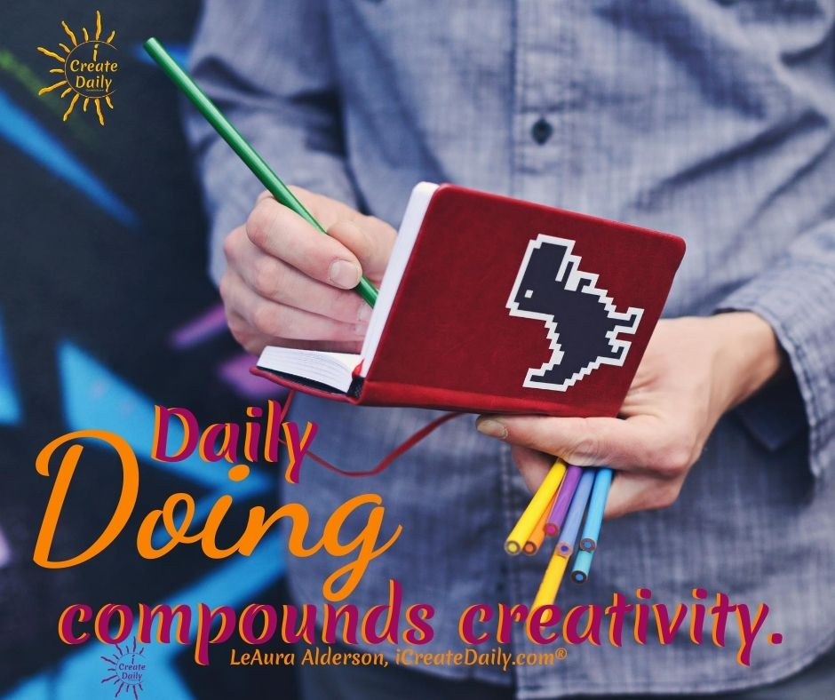 Create Art Daily - Daily doing compounds. #Mindset #MindsetQuote #CreateArt #Productivity #CreateDaily #iCreateDaily #FreedomToChoose