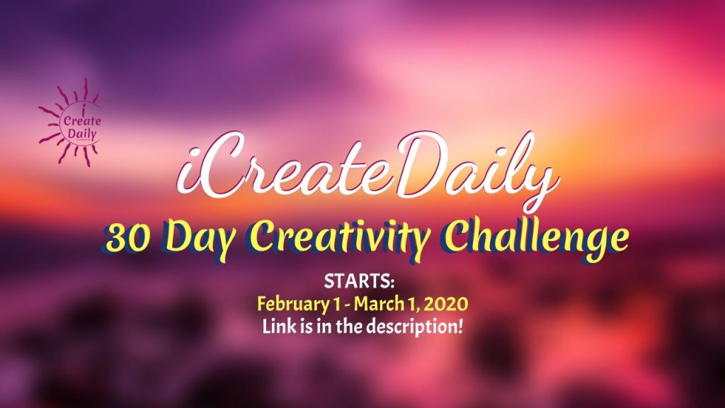 30 Day Creativity Challenge: February 1 – March 1, 2020 #ideas #design #writing #DIY #quotes #drawings #thinking#hobbies #motivational #thoughts #GoalsJournals #GoalJournal #GoalPlanner #video