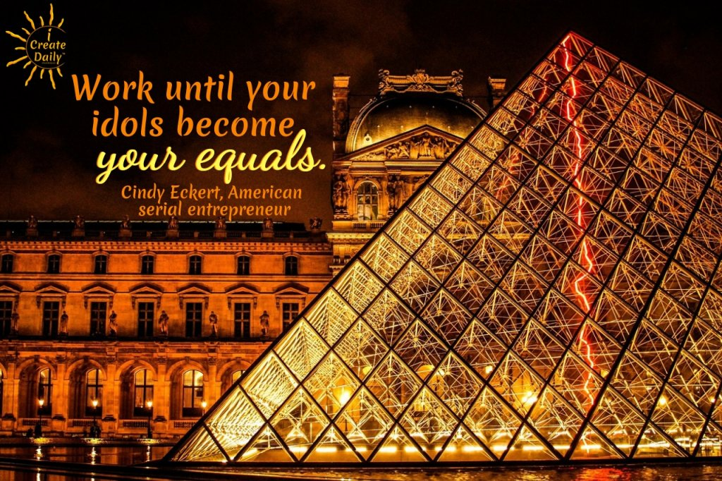 Work until your idols become your equals. #GrowthQuote #Motivation #inspiration #goals #dreams