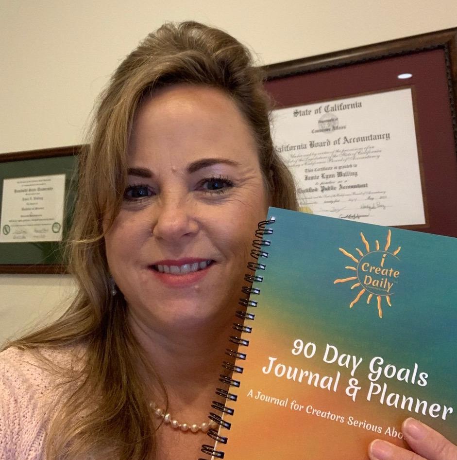 Jamie Walling CPA, goals journal, goal planner