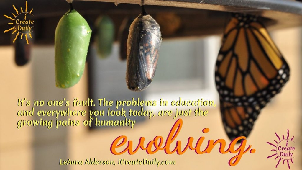 The Growing Pains of Human Evolution - This is the education we need more than anything, to become more fully functioning and balanced humans. #EvolutionQuotes #Humanity #Transformation #EducationQuotes #HumanEvolution #HumanityEvolving #iCreateDaily
