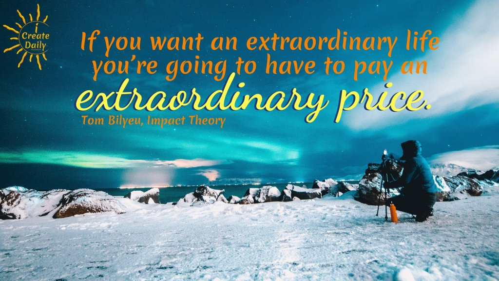 Quest Nutrition Founder, Tom Bilyeu Quotes: If you want an extraordinary life... #BelieveInYourself #ExtraordinaryLifeQuotes #ExtraordinaryQuote #PersonalDevelopment #TomBilyeuQuotes #QuestNutritionFounder