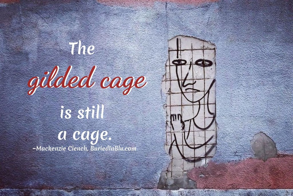 """""""The gilded cage is still a cage."""" ~Mackenzie Clench, writer #TheGildedCage #GildedCage #MackenzieClench #GildedCageEssay #iCreateDaily"""