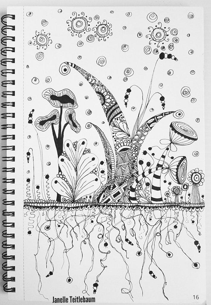 iArtDaily Art & Creativity Challenge, Zentangle by Janelle Teitlebaum, #iArtDaily, #ArtChallenge #CreativityChallenge #ZentangleArt #JanelleTeitlebaum