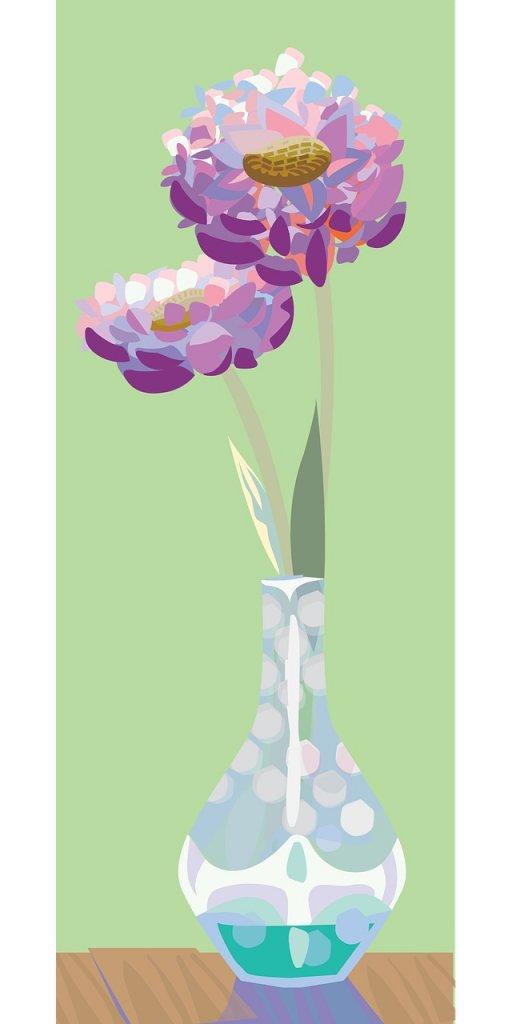 PURPLE FLOWERS DRAWINGS - Digital Purple Flower Image by ctvgs from Pixabay #PurpleFlowers  #DigitalArt #PurpleFlowerDrawings #WhimsicalPurpleFlowers #FlowersInVaseDrawing  #iCreateDaily #iArtDaily