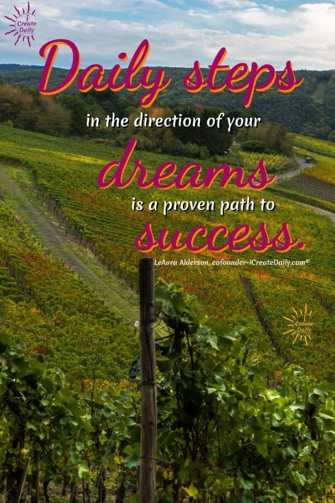 SETTING DAILY GOALS: Daily steps in the direction of yur dreams is a proven path to success. #AchieveYourGoals #GoalSetting #SettingDailyGoals #DailyGoals #LifeGoals