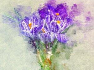PURPLE FLOWERS ART & POEMS #PurpleFlowerArt #PurpleFlowerDrawings #PurpleFlowerPoems