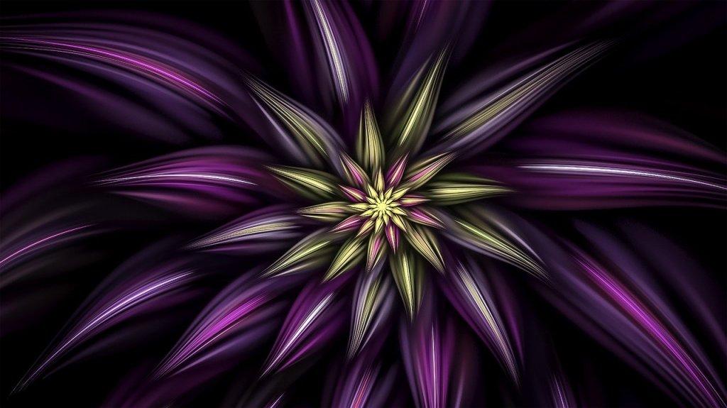 PURPLE FLOWERS DRAWINGS - Digital Purple Flower Image by Barbara A Lane from Pixabay #PurpleFlowers  #DigitalArt #PurpleFlowerDrawings #DramaticFlowerArt  #iCreateDaily #iArtDaily