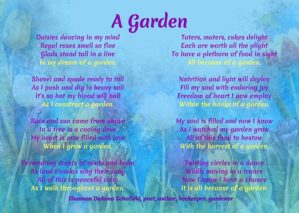 A Garden Poem by Shannon Schofield #GardenPoem #GardenPoetry #GardeningPoem