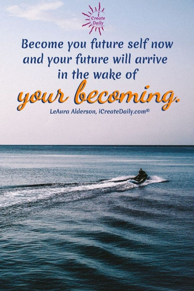 MANIFESTATION: We like to speak of goals as dreams, because dreams inspire visioning, and visioning creates in mental matter which ever precedes manifestation.Become your future self now. #Goals, #Dreams #Becoming #FutureSelf #iCreateDaily #LawOfAttraction #Manifestation #Visioning