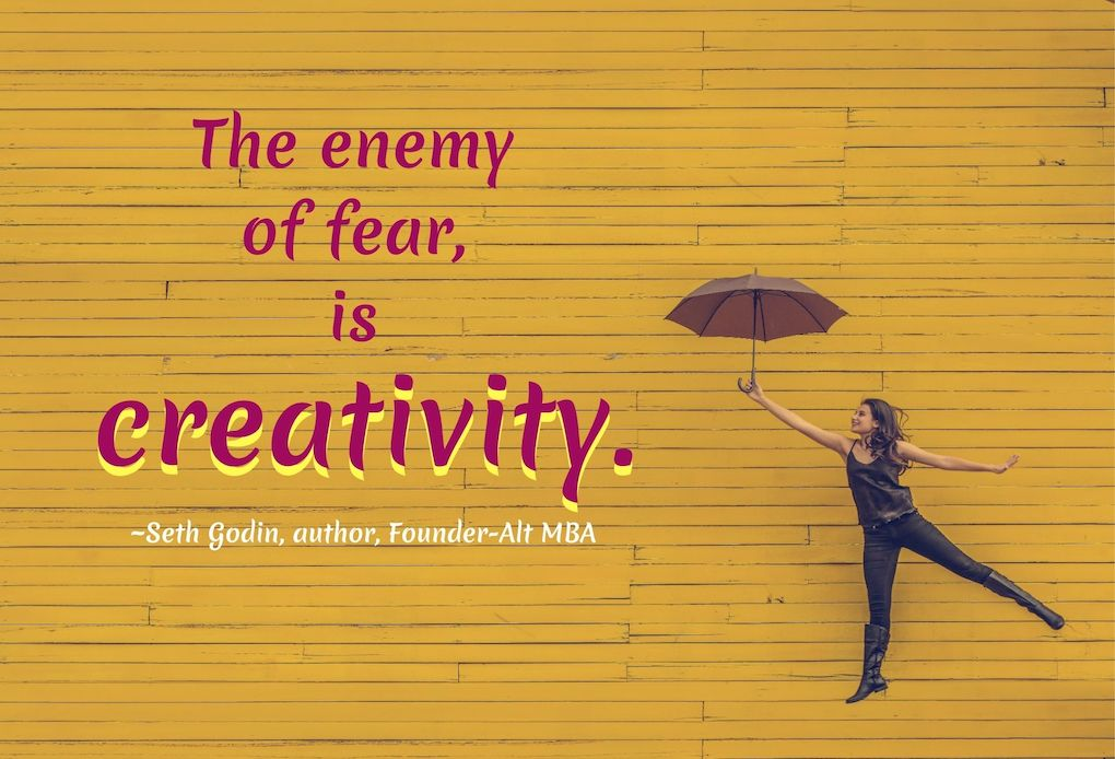 SETH GODIN QUOTES ON FEAR and CREATIVITY. #SethGodinQuote #Creativity #Fear #CreativityQuote #FearQuote