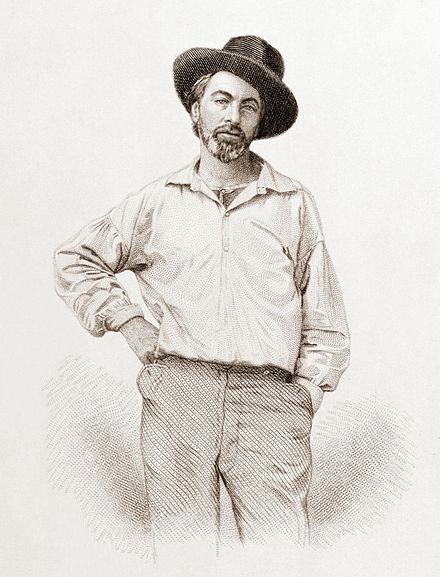 Walt Whitman photo, 1854 via Wikipedia. #WaltWhitman #PoetWaltWhitman #FamousPoets #NaturePoetry #TankaPoem #TankaOnWaltWhitman #WaltWhitmanPoetry #WaltWhitmanBio