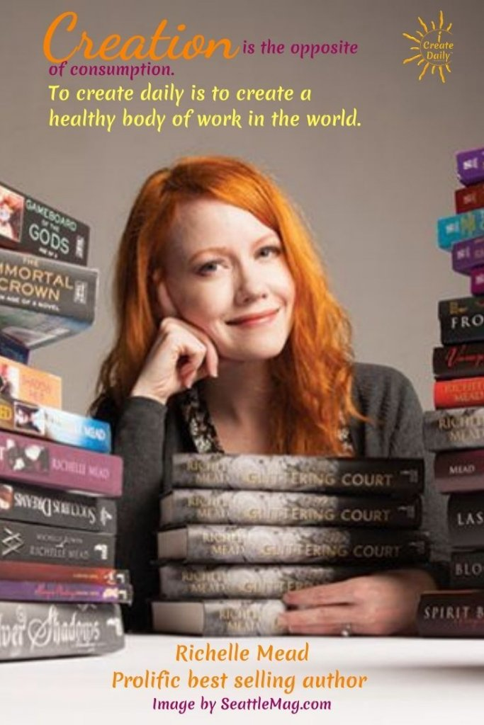 Best selling fiction author, Richelle Mead. #RichelleMead #BestSellingFictionAuthor #VampireAcademy #iCreateDaily