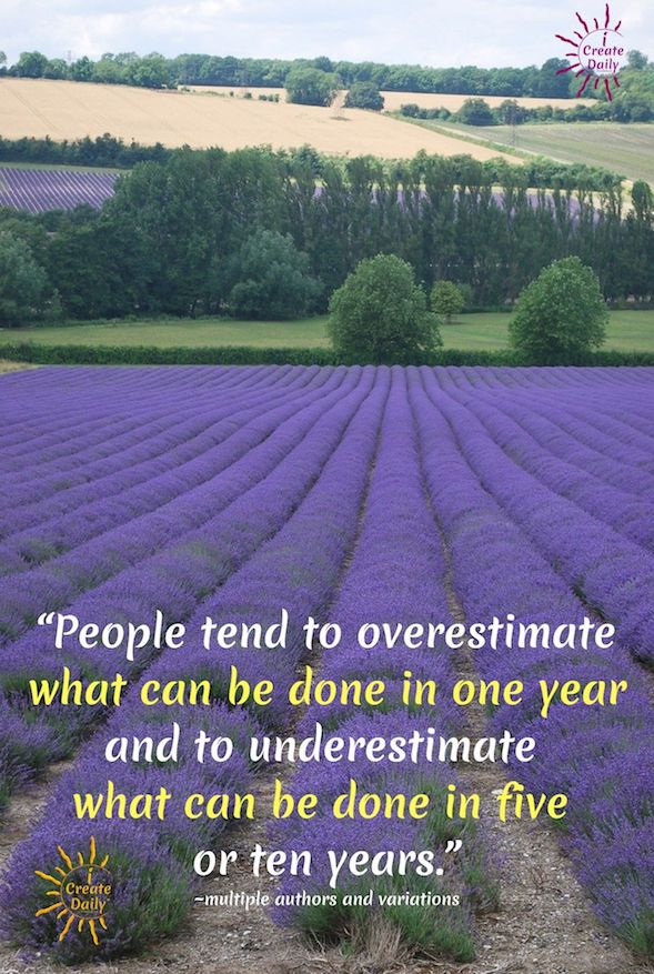You've probably heard the concept that most people overestimate what they can accomplish in the short term but underestimate what they can accomplish in the long term. This is so true and especially important when it comes to setting and achieving your goals. #PeopleOverestimateQuote #MarathonNotASprint #UnderestimateQuote #LifeIsAMarathon #Goals #Goalsetting #iCreateDaily #ItsAMarathonNotASprint