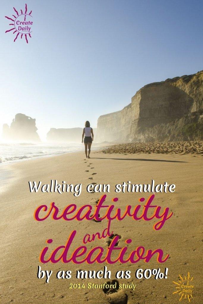 Exercise is a fantastic ideation tool with fringe benefits!  Walking and exercise stimulates ideas and ideation. #IdeationTools #Exercise #Walking #Ideas #Creativity #CreativeIdeas #Positivity #iCreateDaily
