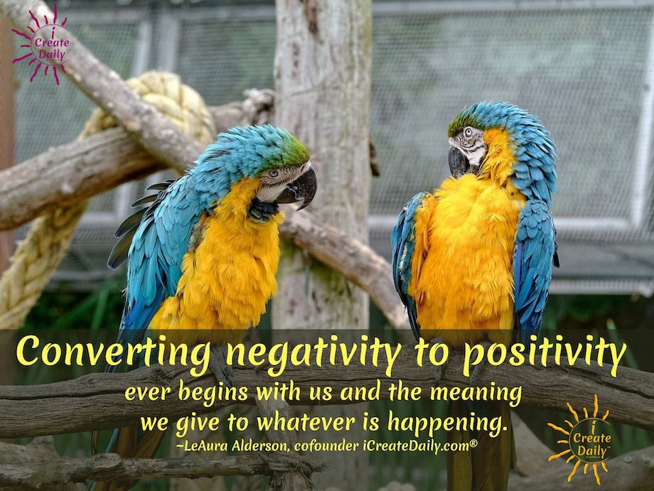 ALCHEMY: The good news about the many challenges of today is that we have vast opportunities to practice alchemy... to transform negativity to positive energy. #NegativityToPositivity #Transmutation #PositiveEnergy #Meaning #iCreateDaily