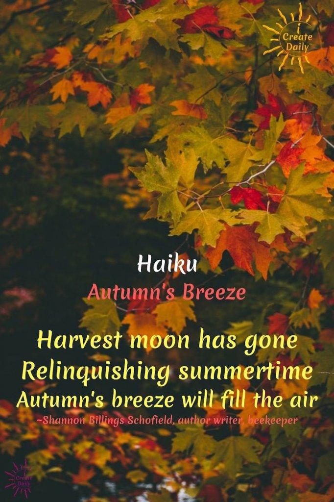 HARVEST MOON HAIKU POEM. #HaikuPoem #Haiku #HarvestMoon #Poem #AutumnHaiku #FallHaiku #FallPoem #AutumnPoem #iCreateDaily